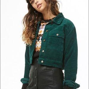 Forever 21 Dark Green Corduroy Jacket